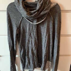 Free People grey built in turtle neck sweater